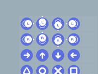 Pixelated PlayStation Buttons controls ui indiedev gamedev pixelart freebies buttons playstation