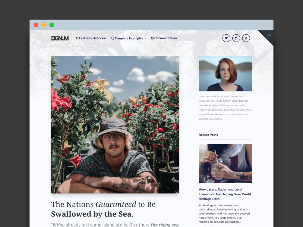 Dignum - Premiun WordPress Theme simple writer gumroad blog premium theme wordpress