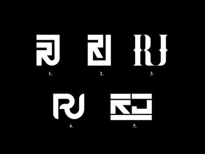 RJ Monogram for Robbie Jenkins Personal Brand logomark logo designer graphic design . logo design graphic  design graphic logo alphabet logotype monogram logo design logo personal brand branding rj