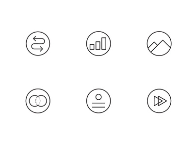 Career counseling icons