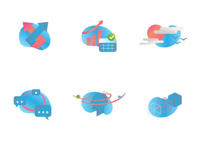 Colorful career counseling icons