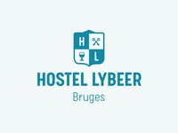 Logo for a hostel
