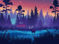 Hello, magical Dribbble world!