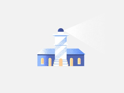Lighthouse 7daystocreate design clean simple texture illustration lighthouse