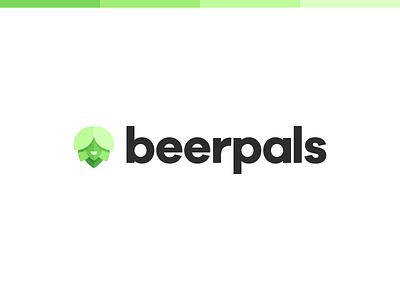 Hoppy Pals person hop beer symbol icon crisp clean wordmarks illustration grotesque sans serif logomark wordmark logo