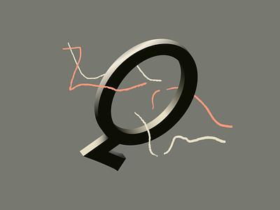 Quixotic 36daysoftype alphabet q letter 3d type lettering typography