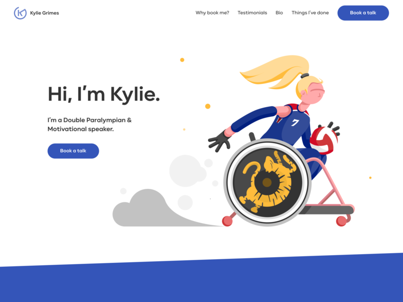 Home Page Design uxui ui design website paralympics olympics illustration home page design hero home page