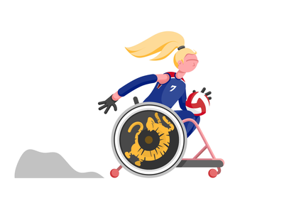 Wheelchair Rugby Animation character animator character animation motion design motiongraphics dust trail animation smoke animation hair animation motion tiger animation paralympics team gb teamgb wheelchair rugby rugby wheelchair