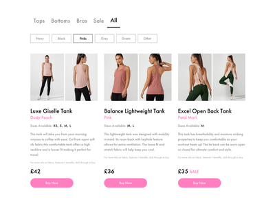 Online Shop + Filter userexperience userinterface uxui ux website clothes shop clothing fitness clothing sports fitness javascript js filter webflow cms development cms online shopping online shop