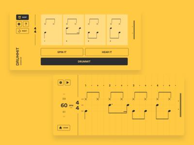App Design v2.0 redesign user interface ui music app ui music app education app educational iphone app iphone education app designer app design ios app app drum app drummer drumming drum