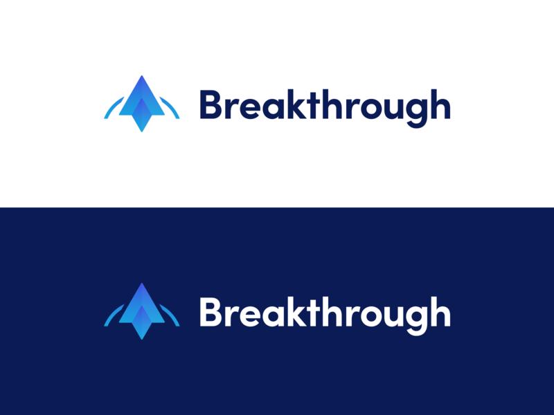 Logo Design branding blue blue logo business logo breakthrough rocketlogo rocket logo shape logotype logo design logo