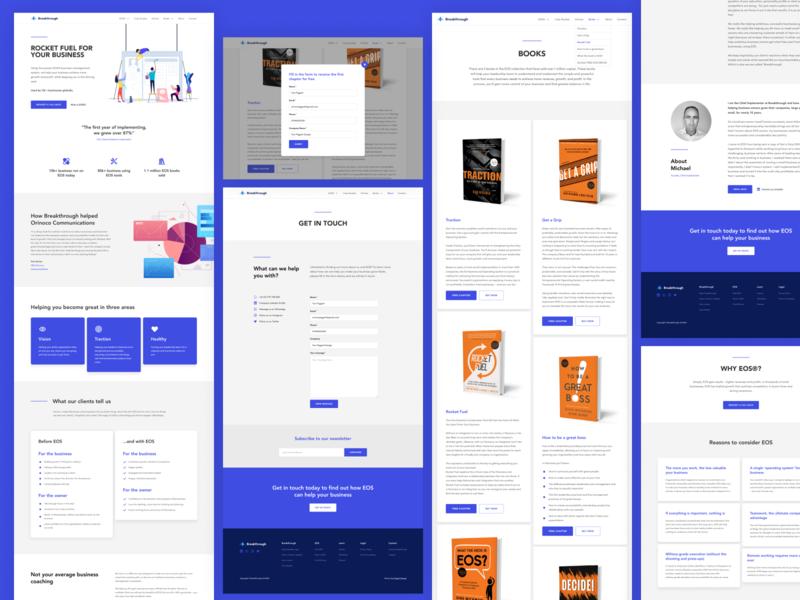 Website Pages minimal clean lead gen lead generation business website web designer business blue figma webflow website design website