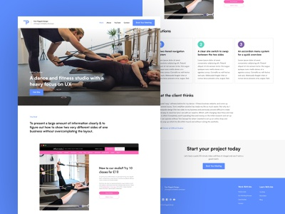 Website Redesign (shot 3) blue blue website designer website portfolio figma webflow ux ui website web