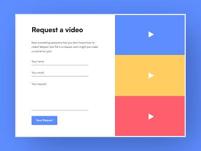 Request Form website flat user interface ui contact form request form form field form design form