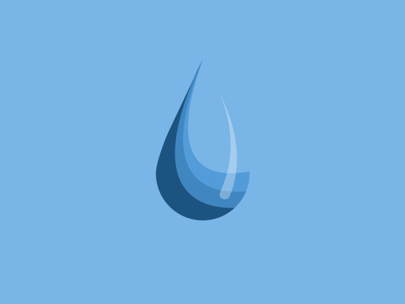 015 / 365 Water illustrationchallenge illustration vector element blue dripping drip droplet drop waterdrop water