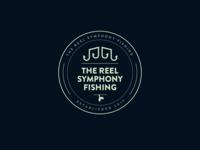 The Reel Symphony Fishing Logo