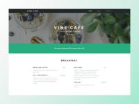 Vegan Cafe Website Landing Page