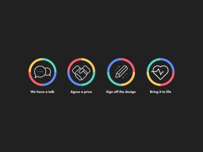 Website Icons illustration website design website iconography icon design icon set icon