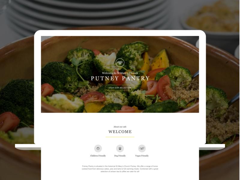 Local Cafe Website Design restaurant cafe cafe website uidesign uiux ui landing page ui landing page web design webdesign