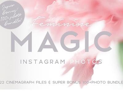 "ANIMATED Instagram photos ""Feminine"" flat lay product mockup motion animation template instagram animated instagram photos feminine animated instagram animated instagram photo bundle instagram bundle"