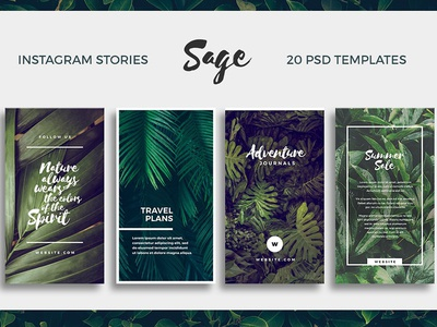 Sage - Instagram Story Templates