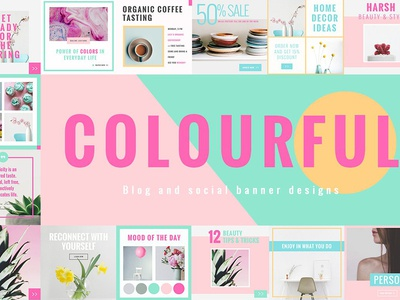 Colorful Social Media Designs