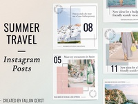 Travel Instagram Template Bundle