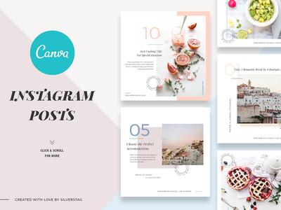 CANVA Food & Travel Instagram Posts