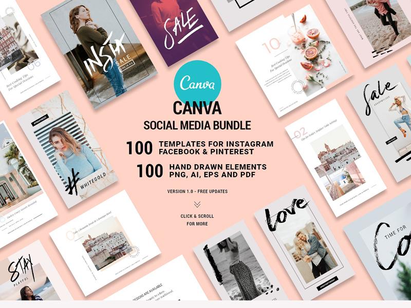 canva social bundle free updates by social media templates