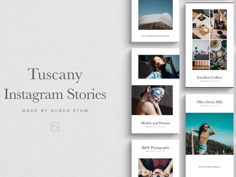Tuscany Instagram Stories clean stylish blogger feminine photography social media pack social media templates tuscany instagram stories instagram stories story stories