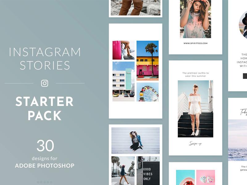 Instagram Stories Starter Pack By Social Media Templates On Dribbble