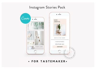 CANVA Insta Stories for Tastemaker social media templates promotion ecommerce template etsy etsy shop tastemaker insta stories instagram instastories