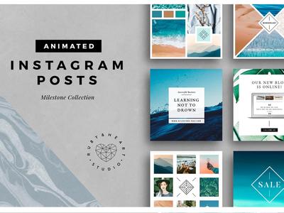 ANIMATED Milestone Instagram Posts