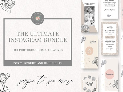 The Ultimate Instagram Bundle psd templates social media bundle templates social media icons social media instagram stories instagram post instagram templates instagram bundle