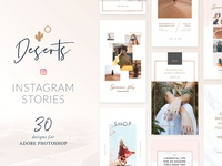 Deserts Instagram Stories Pack