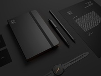 10 Minimal Black Stationary Mockups