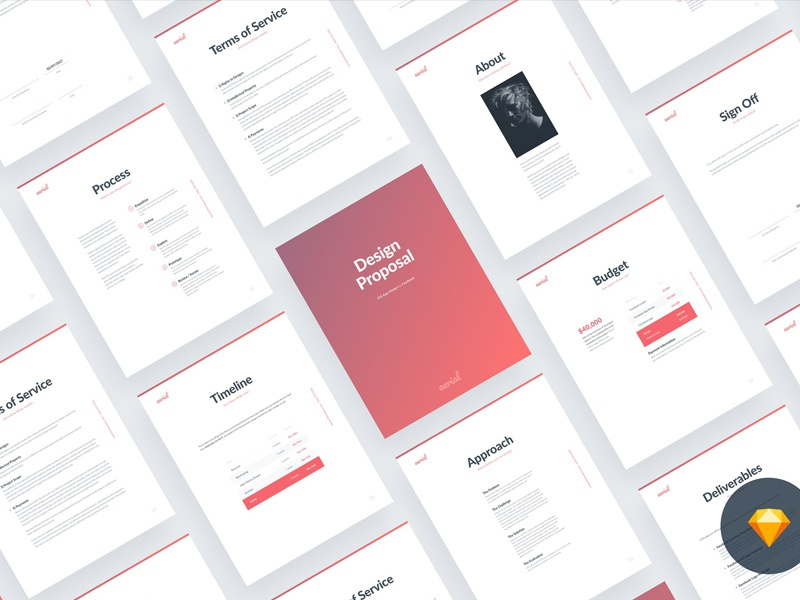 Freelance Proposal Template | Aerial2 0 Proposal Template Sketch By Social Media Templates