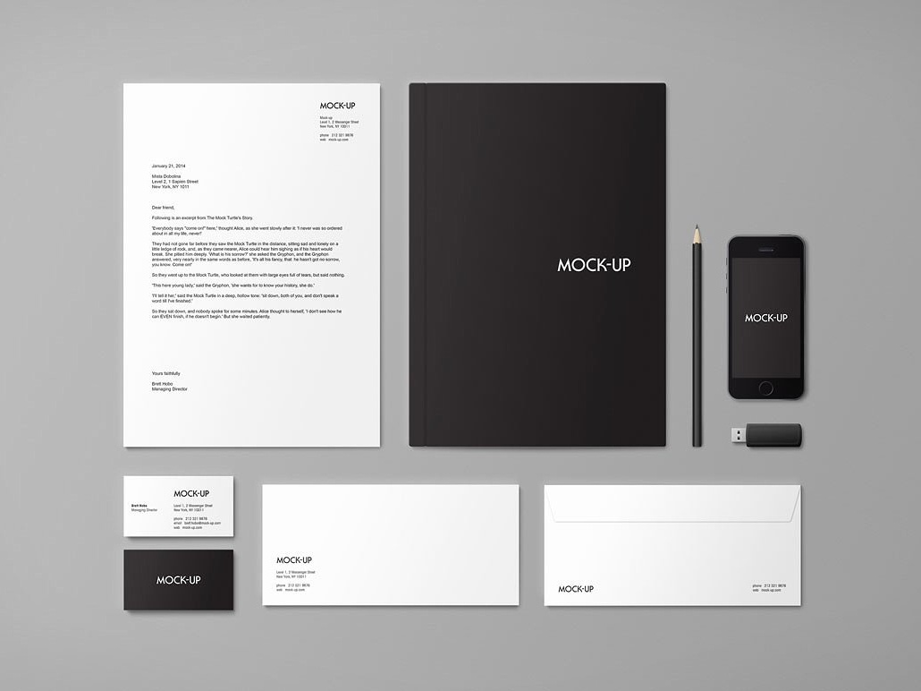 stationery branding mock up by social media templates dribbble