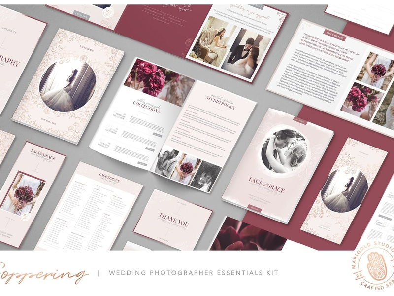 COPPERING | Wedding Photographer Kit luxury wedding photography kit feminine floral us letter photoshop brochure branding templates magazine wedding card wedding photographer wedding photography template wedding wedding photographer kit gold rose gold