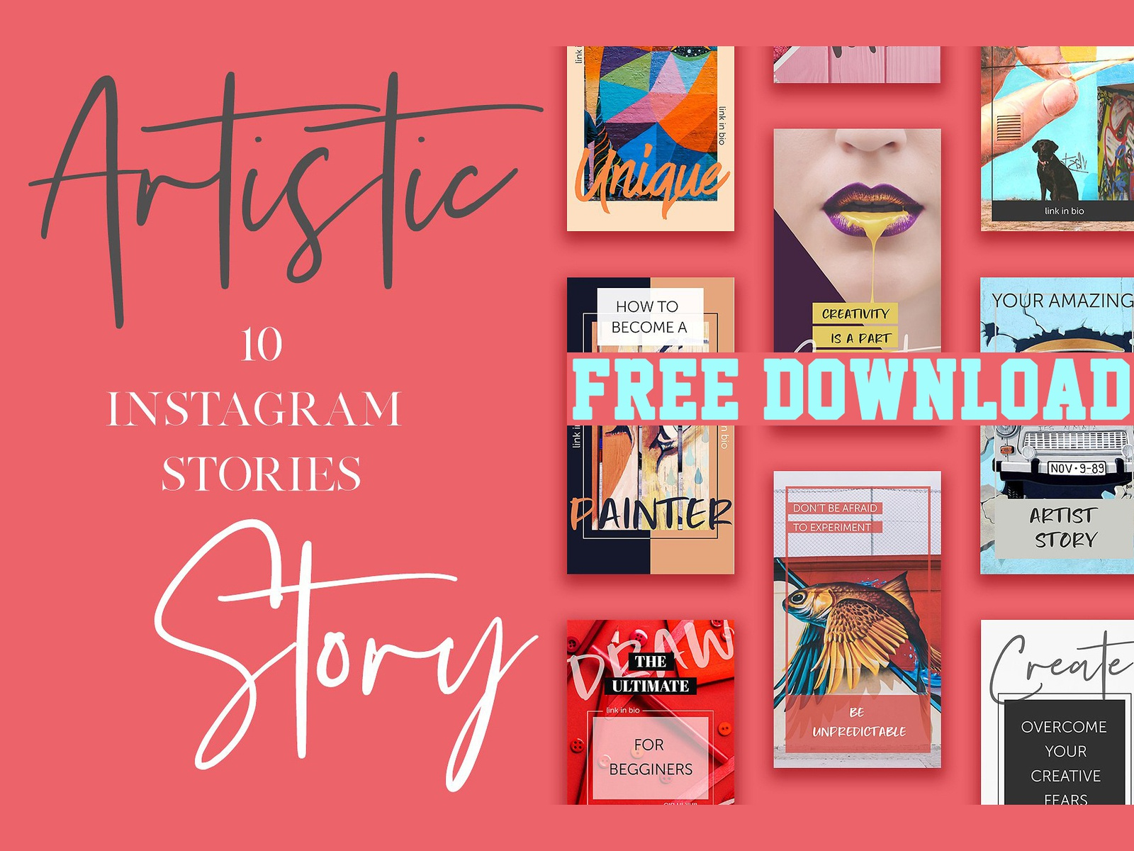 Free Download Artistic Instagram Stories Pack By Social Media