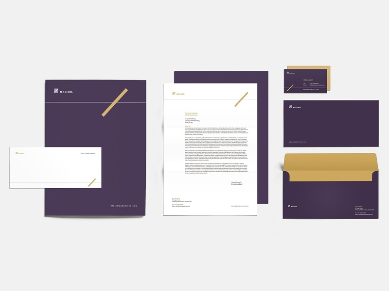 Architecture Corporate Identity by Social Media Templates on