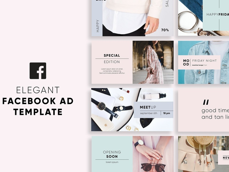 Elegant Facebook Ad Templates lifestyle ad banners banner store fashion facebook covers facebook cover blogger blog elegant clean facebook template promotion advertising ad templates templates facebook ad facebook facebook ad templates