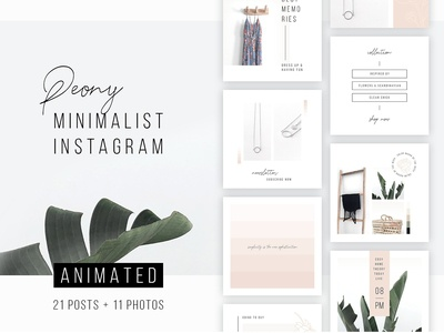 ANIMATED Instagram Posts – Peony