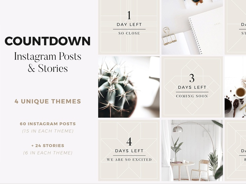 countdown instagram posts   stories by social media