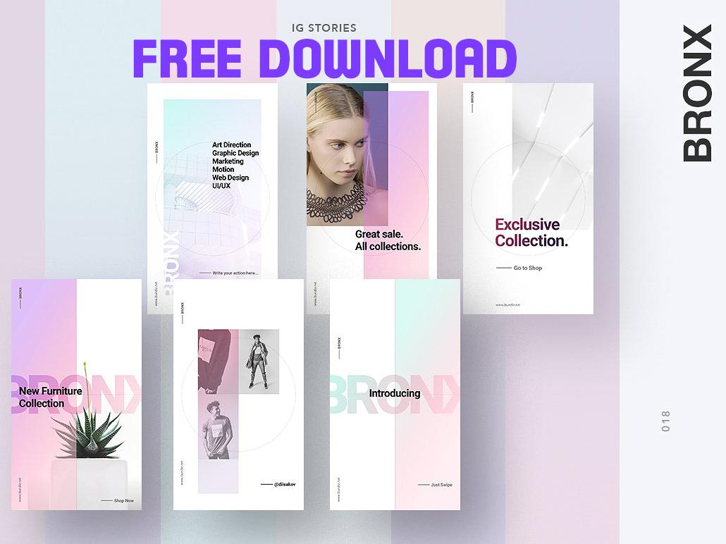 Free Premium Download - BRONX Light Instagram Stories Pack