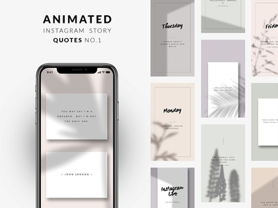 ANIMATED Instagram Story Quotes No.1