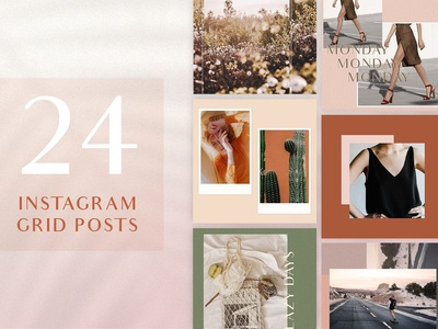 Chic Instagram Grid Post Templates