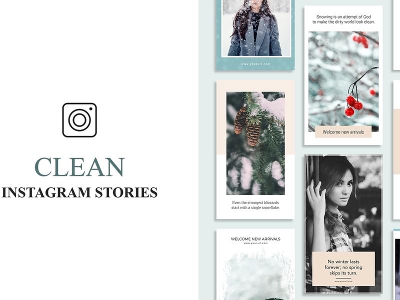 Clean Instagram Stories Banners