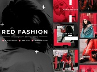 Red Fashion — Instagram Templates