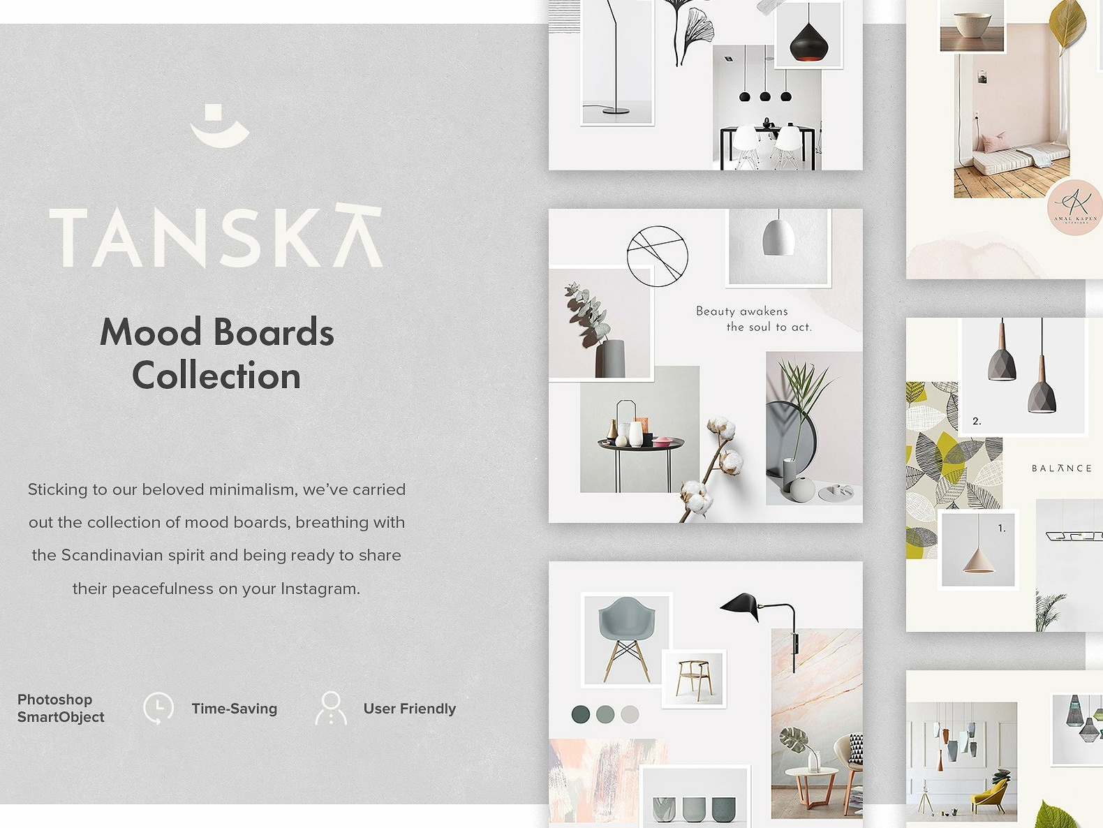 d4365fab15aa Tanska Mood Boards Collection by Social Media Templates   Dribbble ...